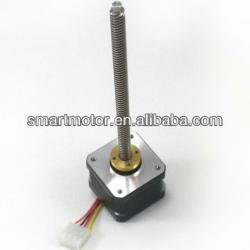 Precision acme threaded rod nema 17 linear stepper motor for Threaded shaft stepper motor