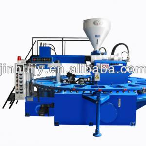 PVC crystal and air blowing shoe making machine(20 workstations)