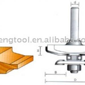 Raised Panel Rounter Bit with Back Cutters