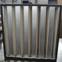 Rigid V-bank Galvanize Frame Air Filter