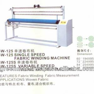 Single and Variable Speed Woven Fabric Winding Machine