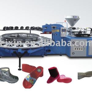 single color air blow injection molding machine