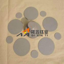 Sintered 3mm Titanium Filter Sheet Cutted into Round Pieces