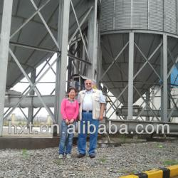 Sorghum storage steel silos,700 ton tank and bins on farm, grain silo