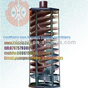 spiral chute for gold recovery