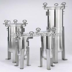 Stainless steel bag filtrate housing