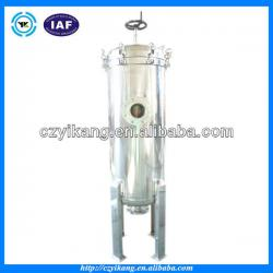 Stainless steel cartridge filter housing for pre treatment 60T per hour flow rate