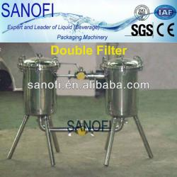 Stainless steel duplex filter for juice processing line