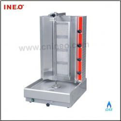 Stainless Steel Gas Kebab Machine With Rotary Bar