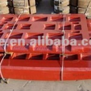 swing and fixed jaw plate for all kinds of famous brand jaw crusher spare parts