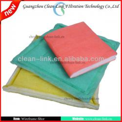 Synthetic fiber plank pre air filter and pannel filter and primary filter manufacture
