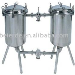 syrup double filter for carbonated beverage machine