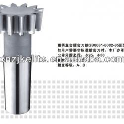 TAPER-SHANK STRAIGHT TEETH GEAR SHAPING CUTTER