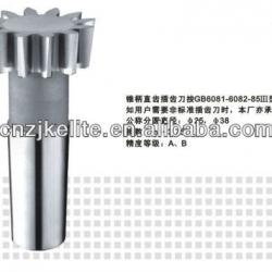 TAPER-SHANK STRAIGHT TEETH GEAR SHAPING CUTTER m4