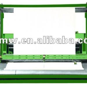 textile roll cutting and winding machine