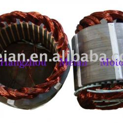 Three phase motor rotor and stator