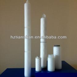 TS filter 0.1um PTFE Pleated Filter Cartridges for Beverage and wine