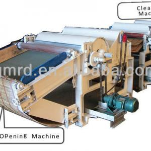 Two cylinder GM250 textile waste tearing and recycling machine