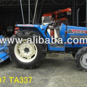 USED TRACTOR WITH ROTARY TILLERS