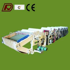 Waste fabric opening machine for yarn production