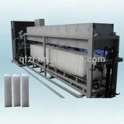 Water cooled industrial block ice machine