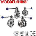 sanitary stainless steel hygeian clamped butterfly valve-