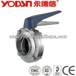sanitary stainless steel butterfly welded valve (ISO9001:2008,CE certificate)-
