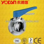 sanitary stainless steel welded butterfly valve-