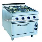 Hotel Kitchen Equipment Gas Range with Electric Oven-