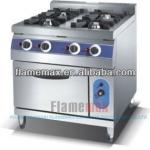 4-burner gas cooking range with gas oven-