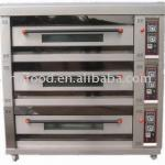 Gas bread baking oven-