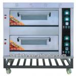 2 layers 4 trays electric deck Oven for bread(MANUFACTURER)-