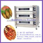 3 layer 9 pan auto baking oven-