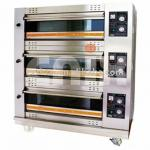 high quality 3 layer 6 pans gas oven-