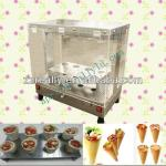 pizza cone production line and pizza cone cabinet display