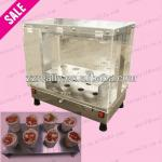 Hot sale pizza cone machine line and 8pcs with CE approved pizza cone cabinet display