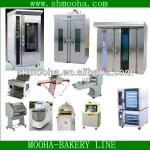 bread bakery machinery line /rotary oven(304 stainless steel,CE)-
