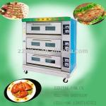 high quality 3 layer 6 pan electric deck oven-
