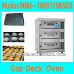 gas deck oven bakery oven (3 Decks 6 Trays,manufacturer low price)-