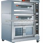 4 bakery trays Deck Oven with proofer room-