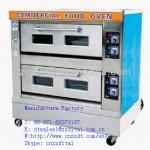 low price 2 layer 4 pan electric deck oven-