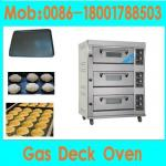 cheap gas deck oven for bread /cake/bakery equipment for sale(3 Decks 6 Trays,manufacturer low price)-