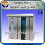 Shanghai mooha 32 Trays Trolley Stainless Steel Gas Rotary Oven(ISO9001,CE)-