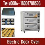 6 Pans Commercial Electric Baking Oven ( 3 decks 6 trays, MANUFACTURER LOW PRICE)-
