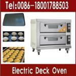 price double deck oven/bread baking oven electric (2 decks 4 trays)-