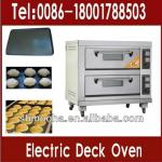 double deck oven/bread baking oven electric (2 decks 4 trays)-
