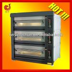 3 deck 12 baking trays bread oven/deck oven with steam spray-