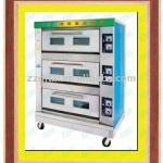 popular 3 layer 6 pan electric deck oven for industrial-