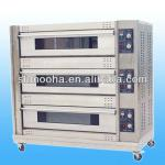 3 layer electric deck oven(3 deck 9 trays)/bakery deck oven/bakery equipment(CE,loowest price from factory)-