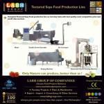 ISO CE Approved Certified Manufacturers of Texturised Soya Soy Protein Food Manufacturing Machines-